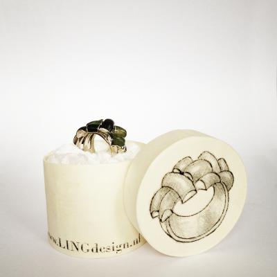 zilveren ring met jade