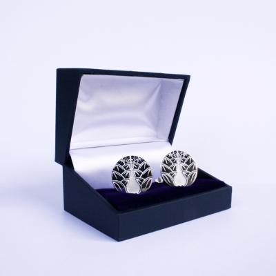 Shinkageryu zilveren manchetknopen p.o.a.
