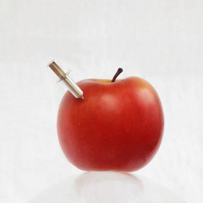 reversspeld zilver appel afgestudeerd cadeau zilver studenten afstudeercadeau spuit utrecht goudsmid lingdesign