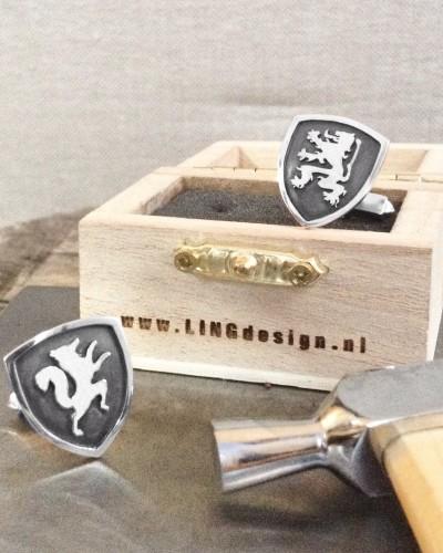 Vos & Leeuw zilveren manchetknopen