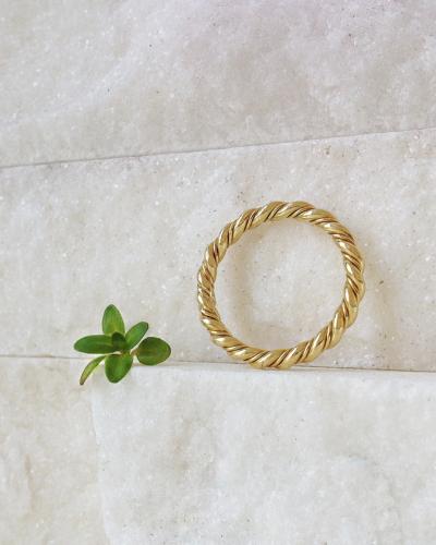 18 krt geel gouden ring