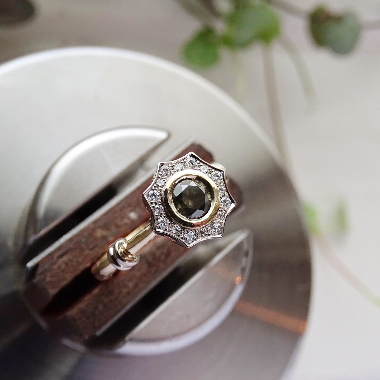 vintage verlovingsring met diamanten